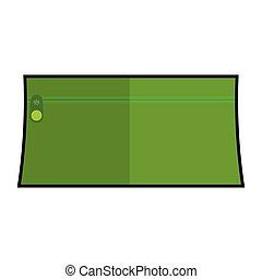 ołówek, zielony, wypadek, ikona