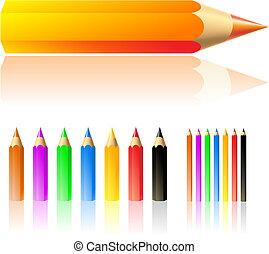 ołówki, barwa