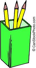ołówki, wektor