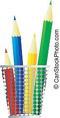 ołówki, wizerunek, wektor
