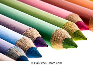 ołówki, zbiór, barwny