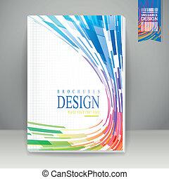 o liniach opływowych, broszura, tło, geometryczny