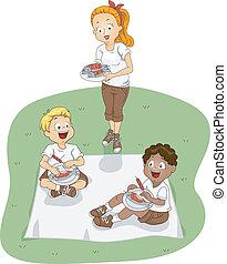 obóz, piknik