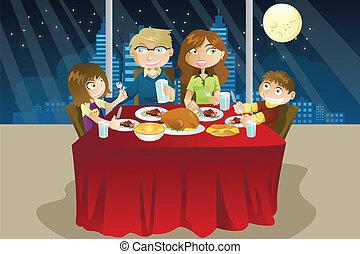 obiad, jedzenie, rodzina