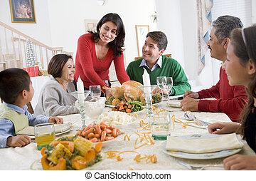 obiad, wszystko razem, rodzina boże narodzenie