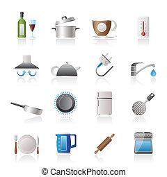 obiekty, kuchnia, ikony