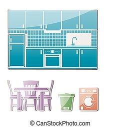 obiekty, kuchnia, meble