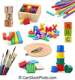 obiekty, preschool, zbiór