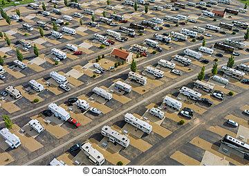 obozowanie, pojazd, urlop, rekreacyjny, antena, podróż, prospekt, rv, maruder