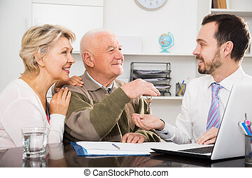 obsadzać kobietę, stary, znak, sprzedaż, porozumienie
