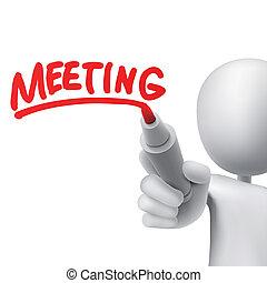 obsadzać spotkanie, pisemny