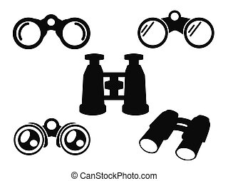 obuoczny, komplet, symbol, ikona