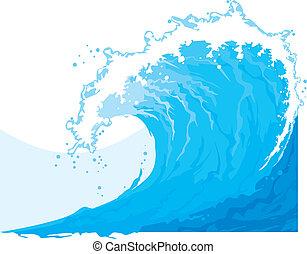 (ocean, wave), morze, machać