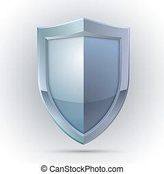 ochrona, emblemat, tarcza, czysty