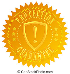 ochrona, gwarantować, ikona