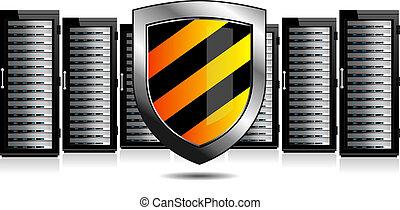 ochrona, tarcza, servery