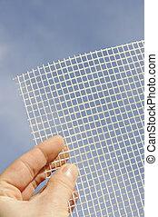 oczko, szczegół, glass-fiber, ręka