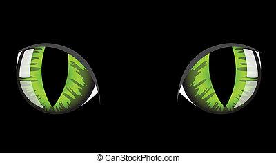 oczy, kot