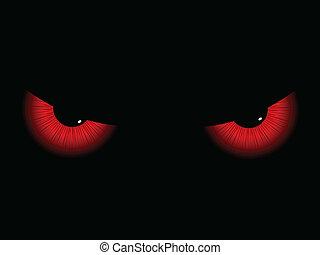 oczy, zły