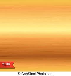 oczyszczony szczotką metal, złoty, struktura, tło