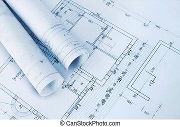 odbitki światłodrukowy, zbudowanie, plan