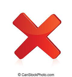 odizolowany, ilustracja, znak, tło, krzyż, czerwony