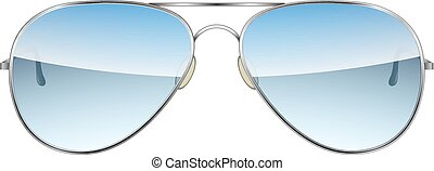 odizolowany, wektor, tło, biały, lotnik, okulary