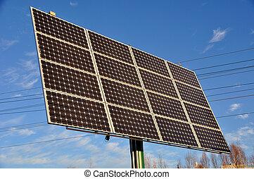 odnawialny, moc słoneczności, poduszeczka, energia