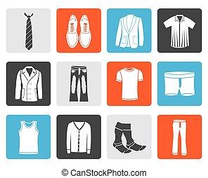 odzież, fason, człowiek, ikony
