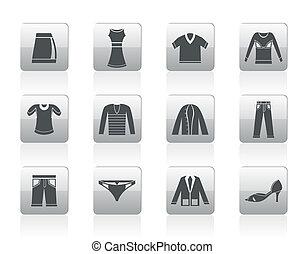 odzież, ikony