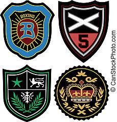 odznaka, komplet, emblemat, policja