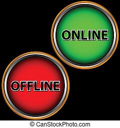 offline, online, ikona