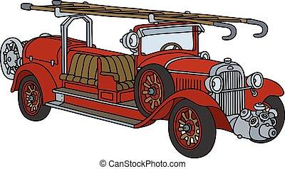 ogień, rocznik wina, wózek