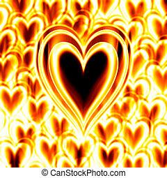 ogień, serce