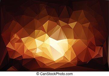 ogień, wektor, polygonal, tło, szablony, mozaika, żywy, handlowy, projektować, ilustracja