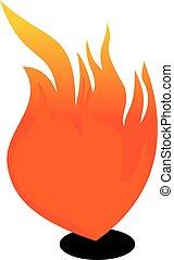 ogień, wektor, projektować