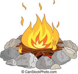 ognisko obozowe