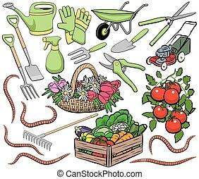 ogrodnictwo, sztuka, zacisk