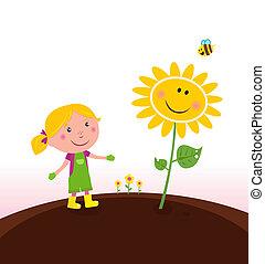 ogrodnik, ogrodnictwo, dziecko, wiosna, :