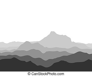 ogromny, skala, góra