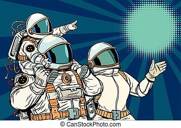 ojciec, dziecko, rodzina, astronauci, macierz