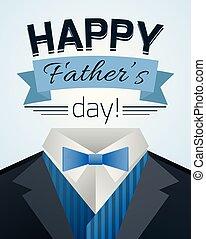 ojcowie, ilustracja, menu, suit., dzień, szczęśliwy