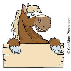 okienko znaczą, koń