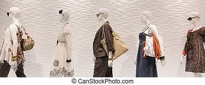 okno, fason, mannequins