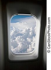 okno, samolot