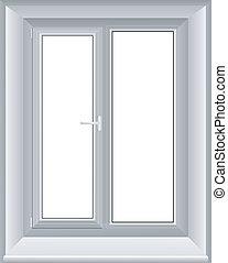 okno, wektor, ilustracja