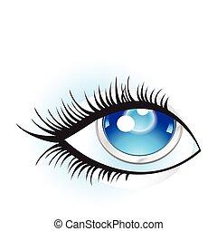 oko, abstrakcyjny, cyfrowy