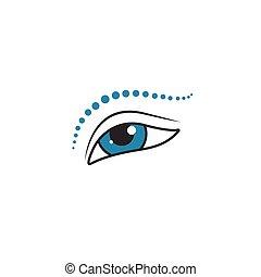 oko, ikona, makijaż