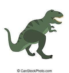 olbrzym, prehistoryczny, jurajski, dinozaur, okres, gad, t-rex, realistyczny, zwierzę, wygasły, rysunek