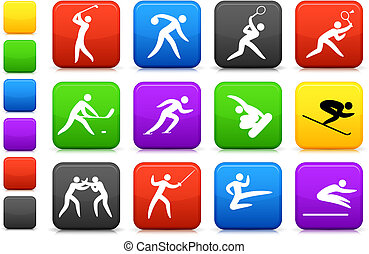 olimpijski, ikona, zbiór, competative, lekkoatletyka